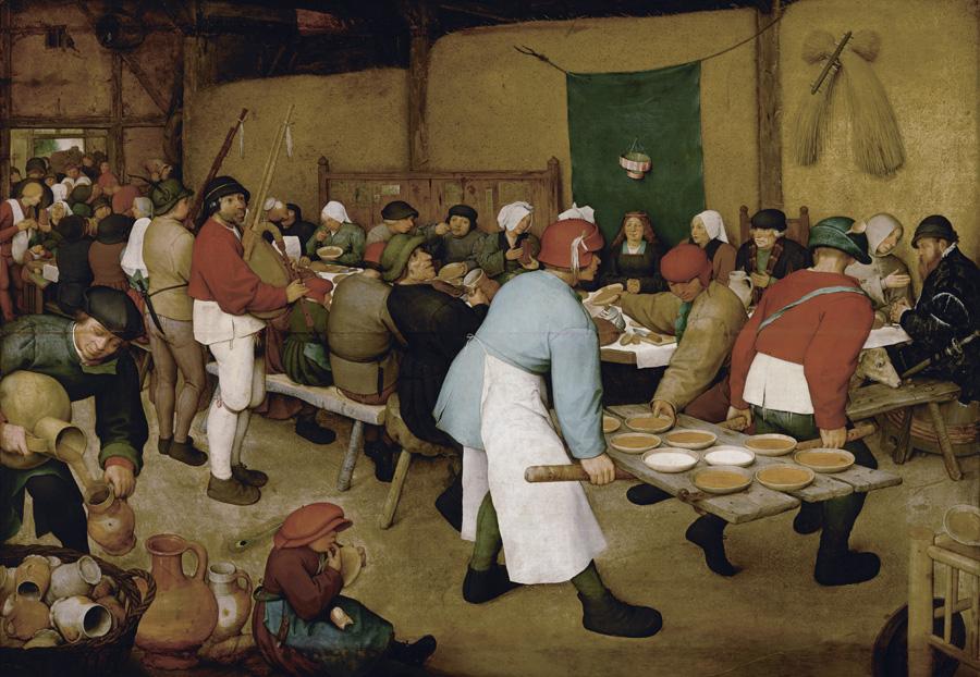 Pieter Brueghel el viejo. Boda campesina. Hacia 1566-1569. Kunsthistorisches Museum. Viena.