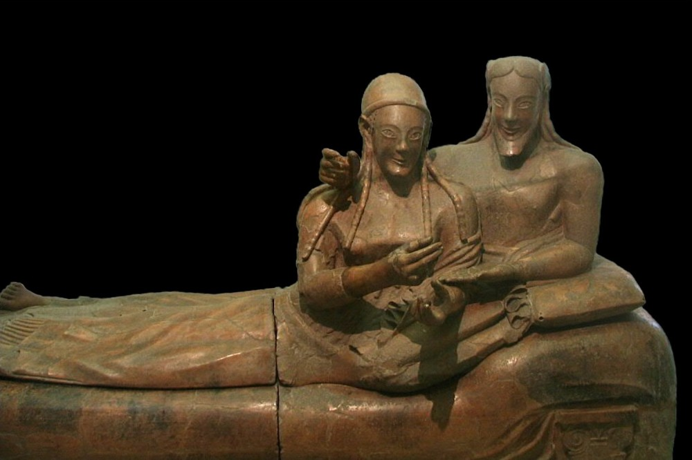Sarcófago de los esposos. Siglo VI a.C. Museo Nacional Etrusco. Roma.