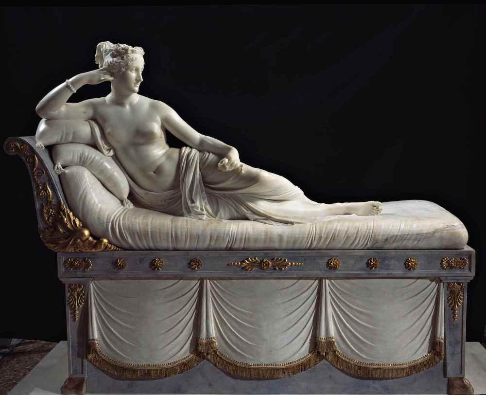Antonio Cánova. Paulina Borguese como Venus Victoriosa. 1805-1808. Galería Borghese. Roma.