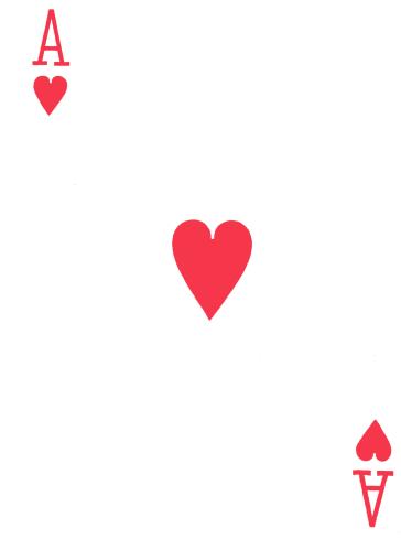 As de corazones.