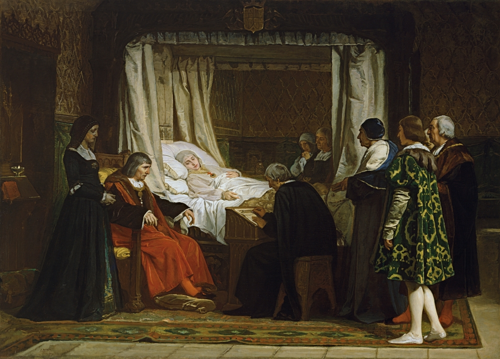 Eduardo Rosales. Doña Isabel la Católica dictando su testamento. 1864. Museo del Prado. Madrid.