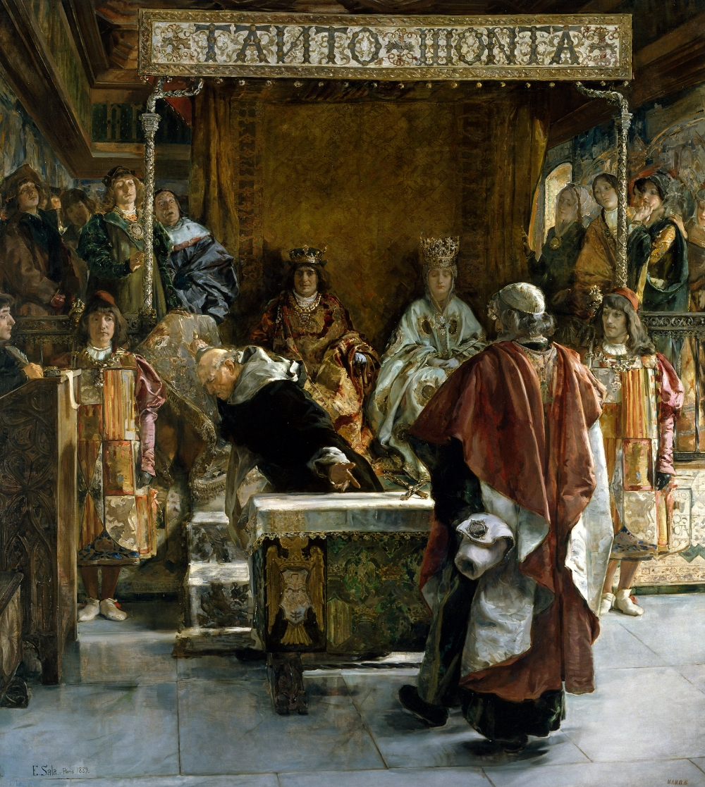 Emilo Sala. Expulsión de los judíos de España (año de 1492). 1889. Museo del Prado. Madrid.