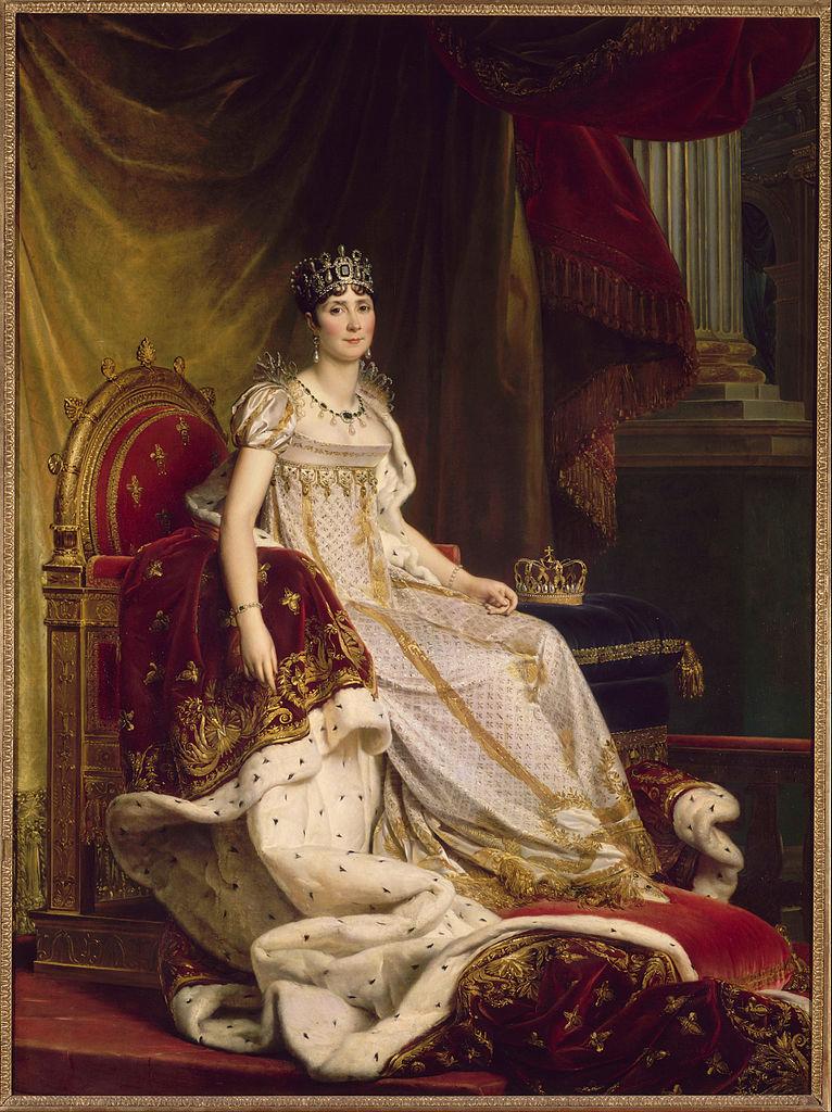 François Gérard. Josefina con el traje de la coronación. 1807-1808. Museo Nacional del Castillo de Fontenebleau. Francia.