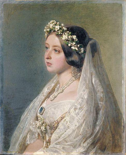 Franz Xavier Winterhalter. Victoria de Inglaterra. 1847. Colección Real Británica. Este retrato fue un regalo de la reina a su marido por su aniversario de boda en 1847.