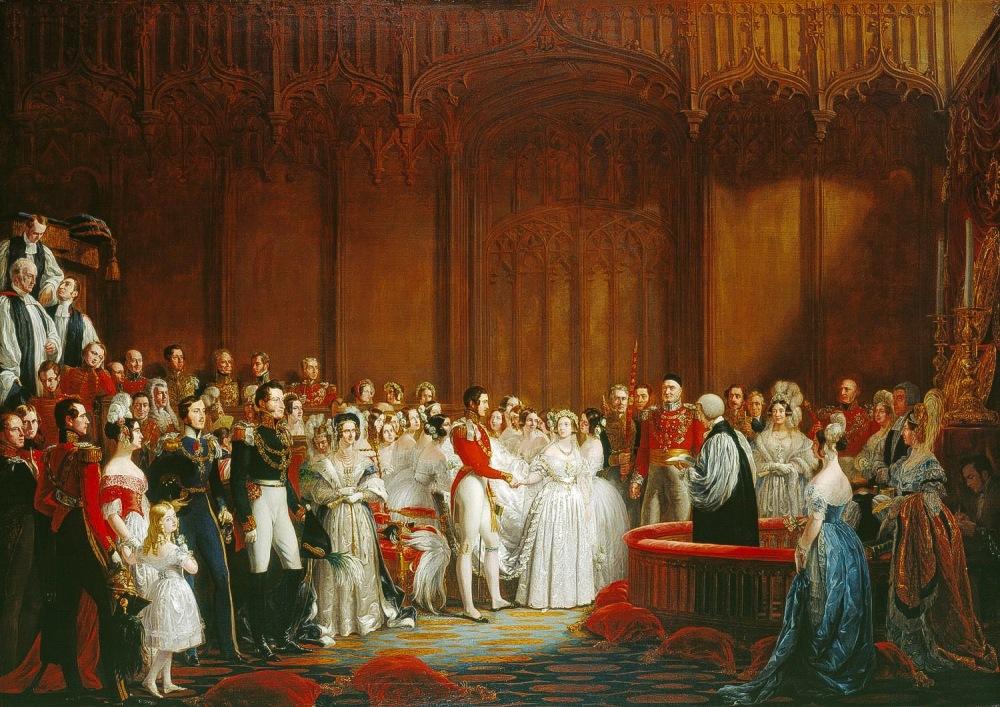 George Hayter. La boda de la reina Victoria. 1840. Colección Real Británica