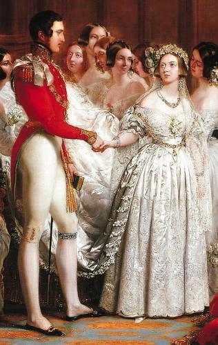 George Hayter. La boda de la reina Victoria. 1840. Detalle. Colección Real Británica