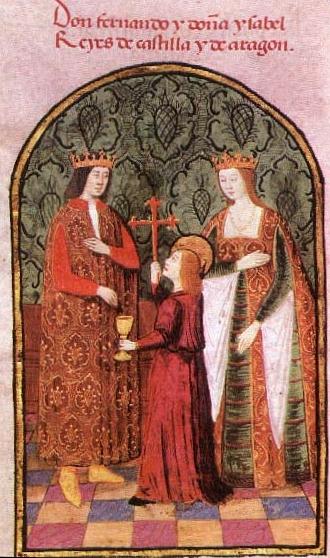 Imágen de la boda de los Reyes Católicos.