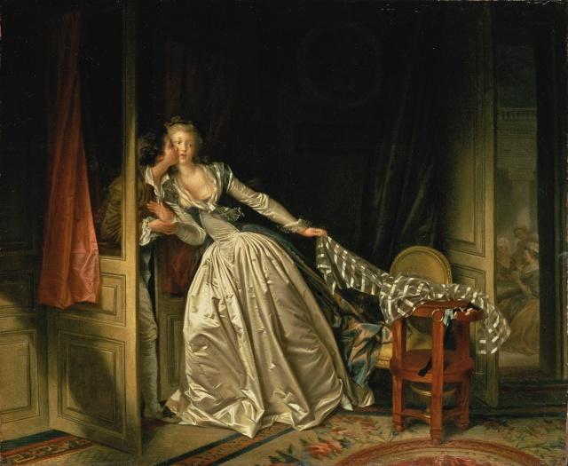 Jean-Honoré Fragonard. El beso robado. 1780. Museo del Hermitage. San Petersburgo. Rusia.