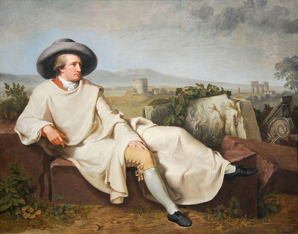 Johann Heinrich Wilhelm Tischbein. Goethe en la campiña romana. 1787. Instituto Städel, Fráncfort del Meno. Alemania.