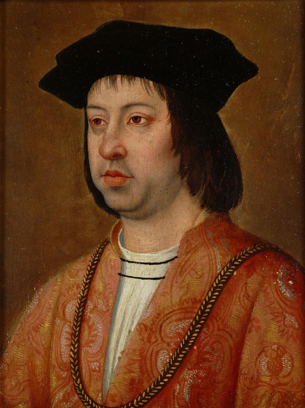 Michel Sittow. Fernando II de Aragón, el Católico. Kunsthistorisches Museum. Viena.