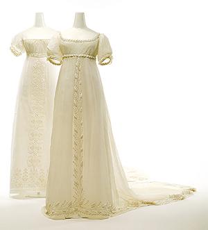 Vestidos franceses de algodón blanco. Hacia 1810. Metropolitan Museum of Art. Nueva York.