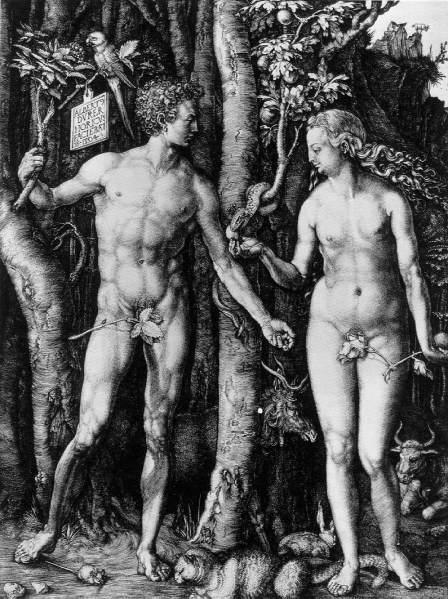 Alberto Durero. Adán y Eva. 1504.