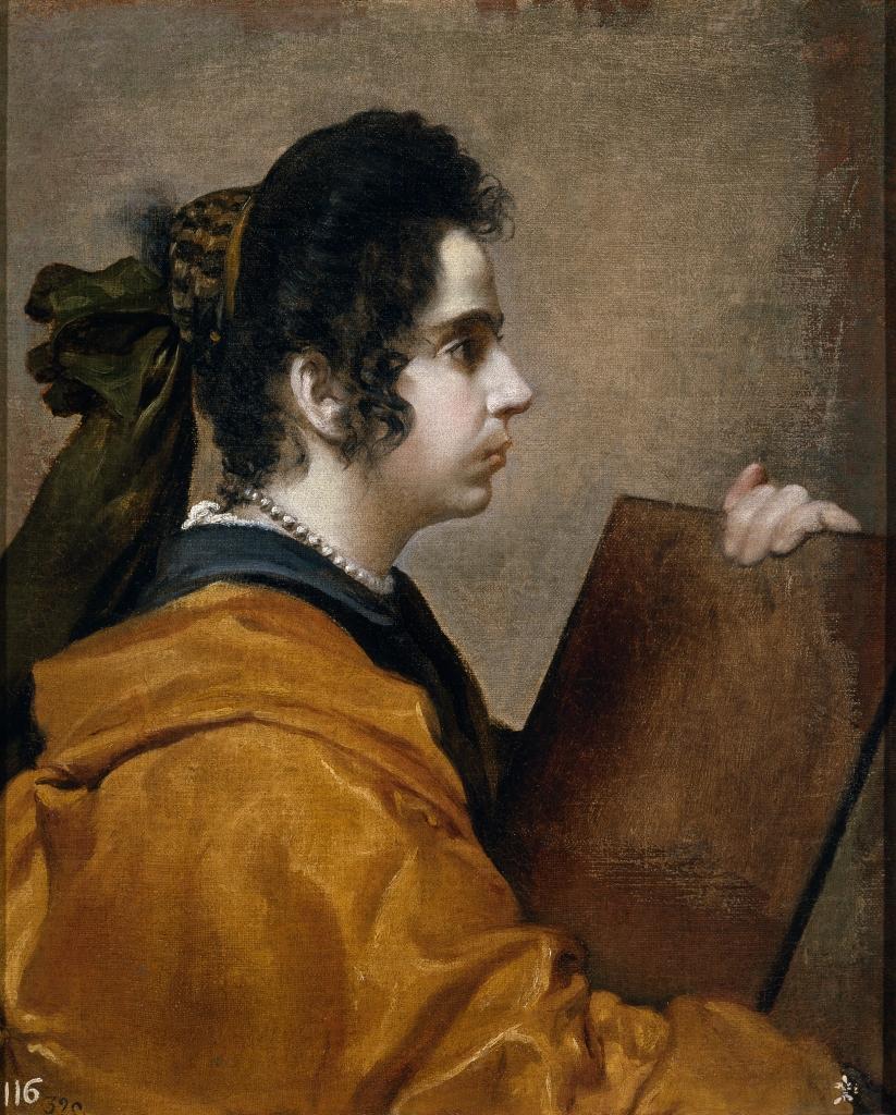 Diego Velázquez. Una sibila. Hacia 1632. Museo Nacional del Prado. Madrid. Se apunta como posible retrato de su mujer Juana Pacheco. El cuadro fue adquirido por Isabel de Farnesio en 1746.