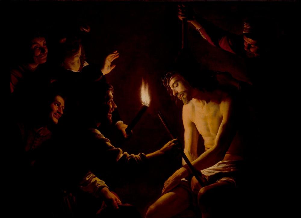 Gerard van Honthorst. La burla de Cristo. Hacia 1617. Los Ángeles County Museum of Art.