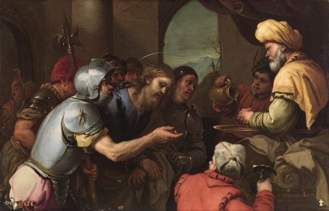 Luca Giordano. Pilatos lavándose las manos. 1655-1660. Museo Nacional del Prado. Madrid.