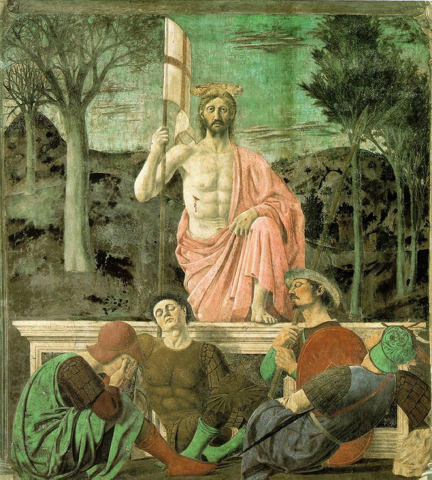 Piero de la Francesca. La Resurrección de Cristo. Hacia 1463. Museo Cívico de Sansepolcro. Italia.