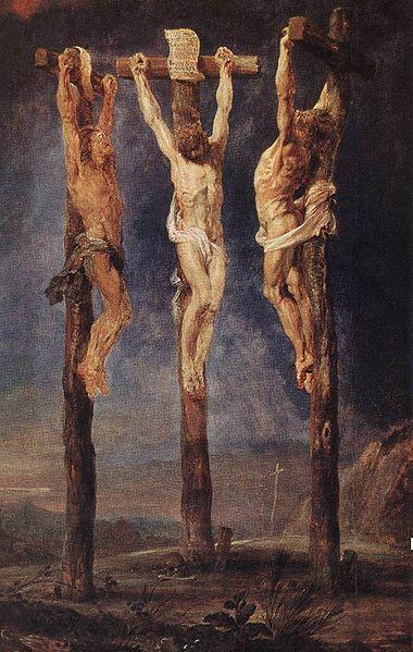 Peter Paul Rubens. Las tres cruces. Hacia 1620. Museum Boijimans van Beuningen.