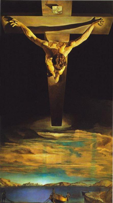 Salvador Dalí. Cristo de San Juan de la Cruz. 1951. Museo Kelvingrove, Glasgow, Reino Unido