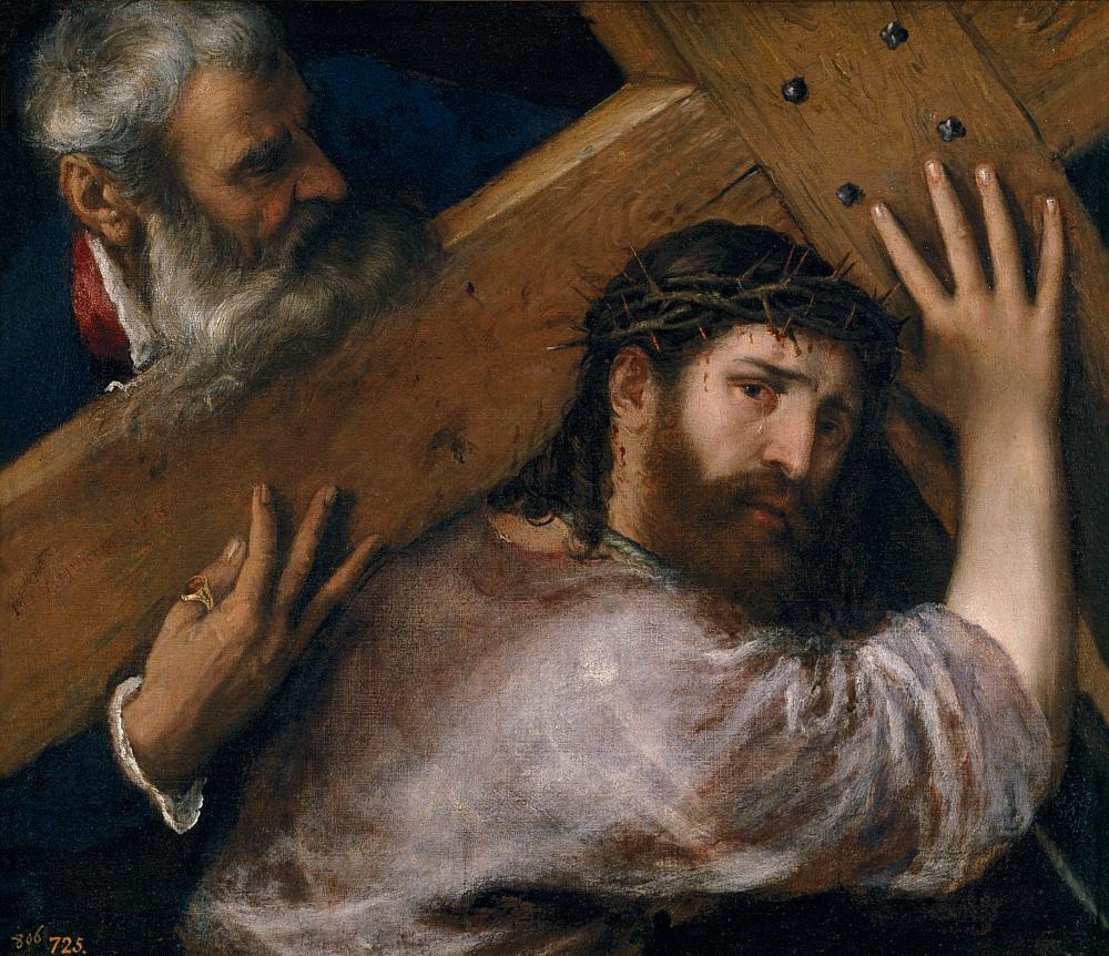 Tiziano. Cristo con la cruz a cuestas. 1565. Museo Nacional del Prado. Madrid.