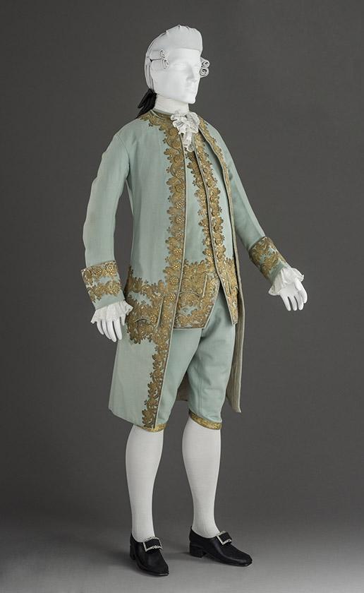 Traje masculino de corte. Hacia 1760. LACMA. Los Ángeles.