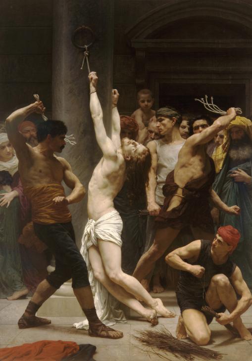 William-Adolphe Bouguereau. La flagelación de Cristo. 1880.catedral de San Luis de La Rochelle.