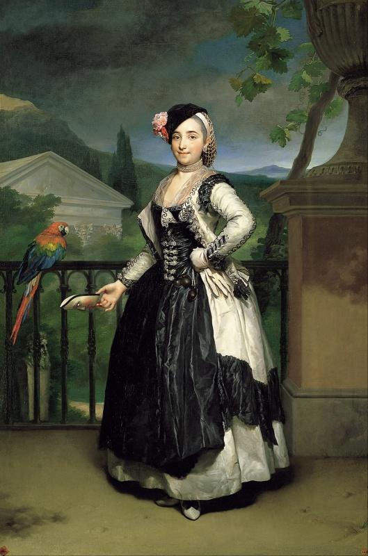 Antón Rafael Mengs. Retrato de la marquesa del Llano. 1770. Real Academia de Bellas Artes de San Fernando. Madrid.