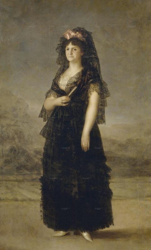 Francisco de Goya. La reina María Luisa vestida de maja. 1799. Palacio Real. Madrid.