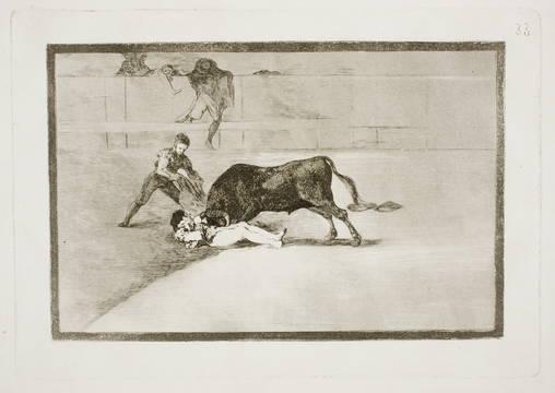 Francisco de Goya La desgraciada muerte de Pepe Illo en la plaza de Madrid. Tauromaquia [estampa], 33. 1816. Museo del Prado
