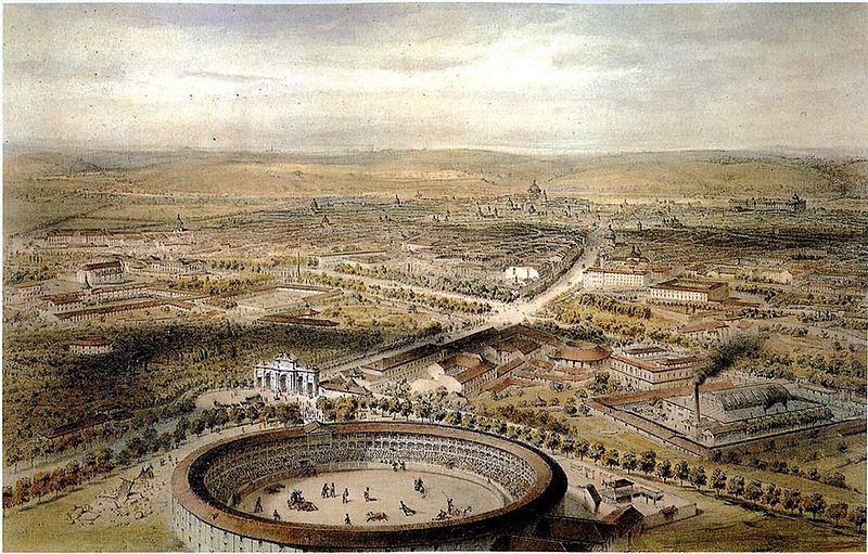 Alfred Guesdon. Plaza de toros de la Puerta de Alcalá. 1854.