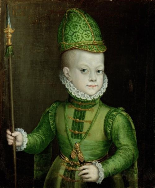 Alonso Sánchez Coello. El infante Felipe. Museo de arte de San Diego. Estados Unidos.