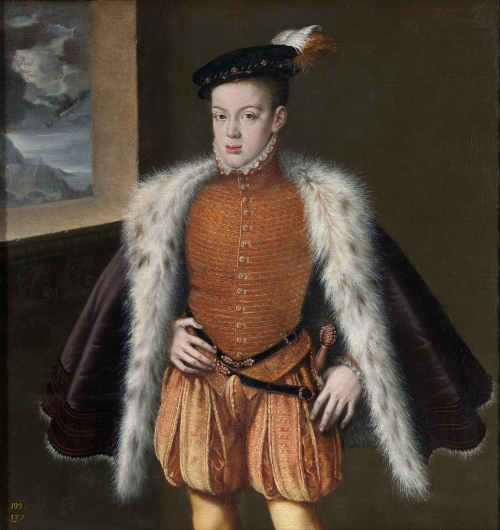 Alonso Sánchez Coello. El Príncipe don Carlos. 1555-1558. Museo del Prado. Madrid.