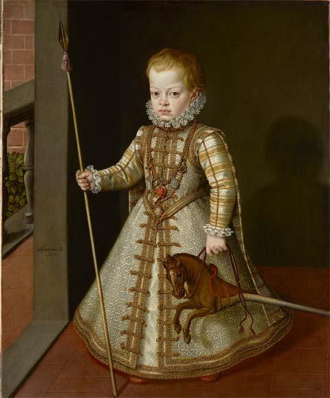 Alonso Sánchez Coello. El infante don Diego.1577. Museo de Liechtenstein. Viena.