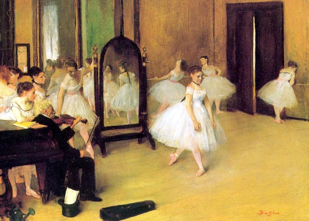 Edgar Degas. Clase de danza. 1871. Metropolitan Museum. Nueva York.