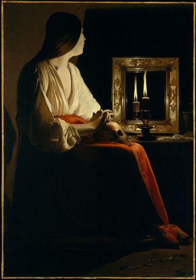 Georges de Latour. Magdalena penintente. Hacia 1625-1650. Metropolitan Museum. Nueva York.