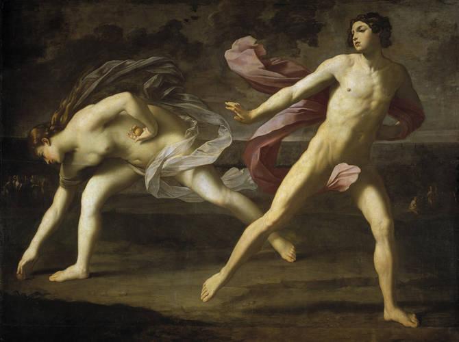 Guido Reni. Hipómenes y Atalanta. 1619. Museo del Prado. Madrid.