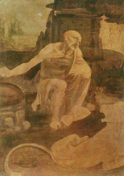 Leonardo da Vinci. San Jerónimo. Hacia 1480. Museos Vaticanos. Roma