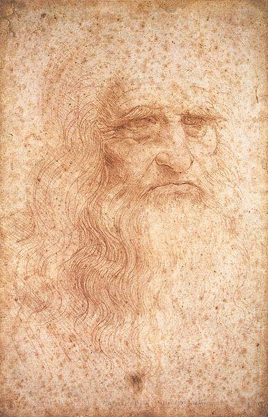 Leonardo da Vinci. Autoretrato. Hacia 1512.  Biblioteca Real. Turín.