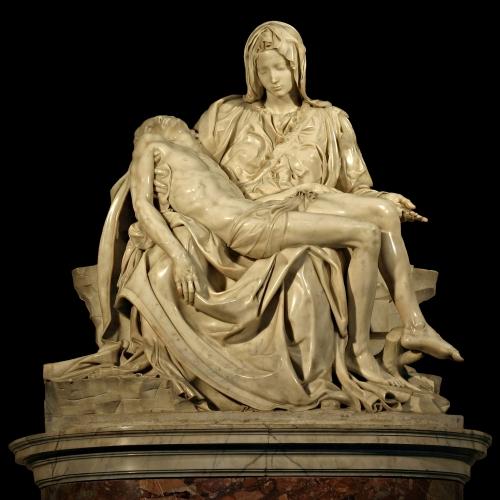 Miguel Angel.  La Piedad. 1498-1499. Basílica de San Pedro. Ciudad del Vaticano.