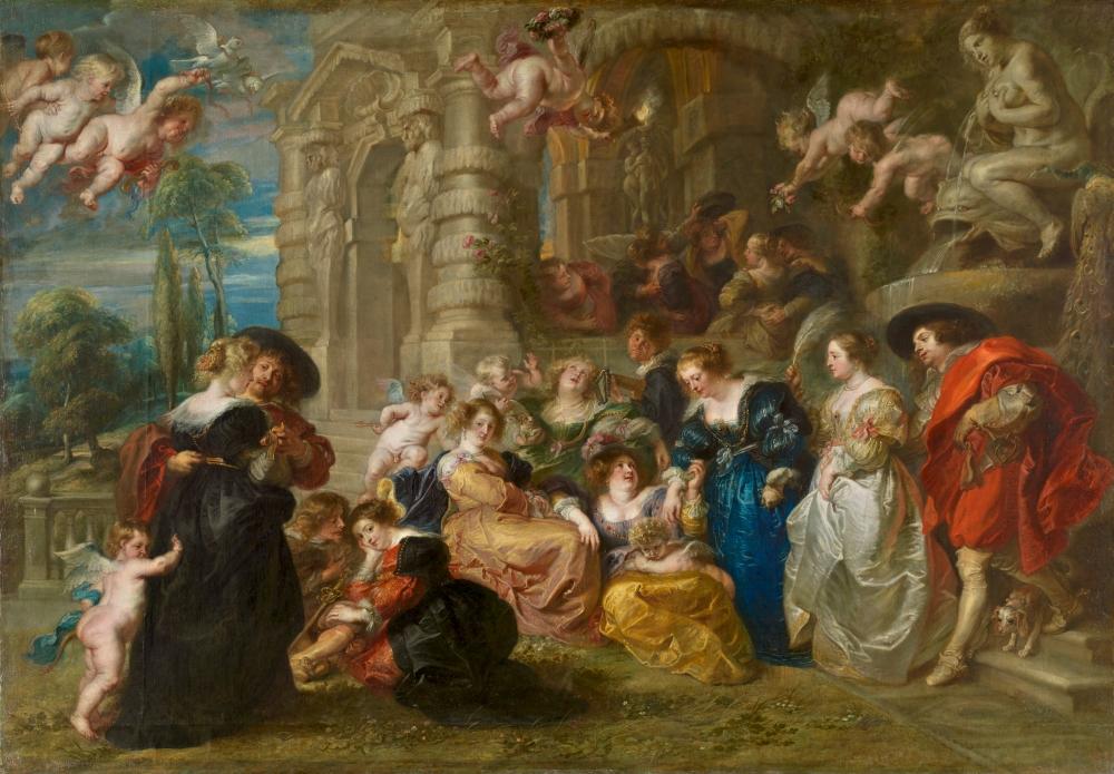 Peter Paul Rubens. El jardín del amor. 1630-1635. Museo del Prado. Madrid.