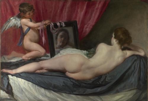 Diego Velázquez. La Venus del espejo.1647–1651 National Gallery. Londres.