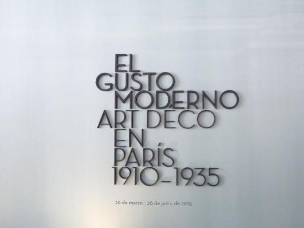 El gusto moderno. Art Déco en París, 1910-1935. Madrid. Fotografía © Cortesía Fundación Juan March.