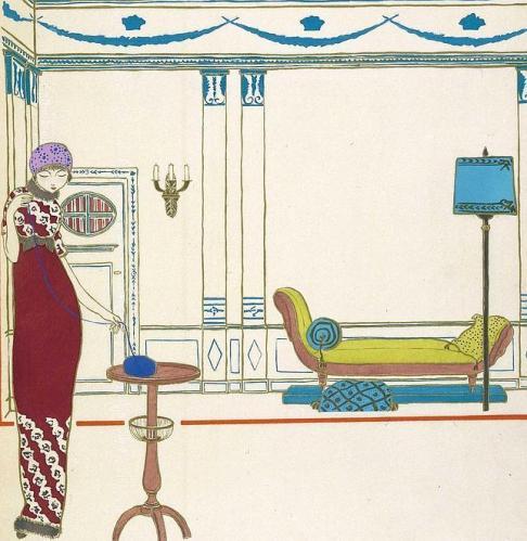 Los vestidos de Paul Pioret, vistos por Georges Lepape. 1911.