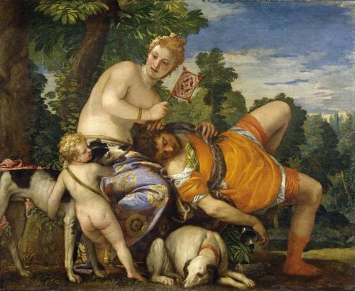 Paolo Verones. Venus y Adonis. 1580. Museo del Prado. Madrid.