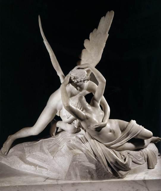 Antonio Canova. Psique reanimada por el beso del amor. 1793. Museo del Louvre. Paris.