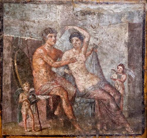 Venus y Marte. Fresco pompeyano.