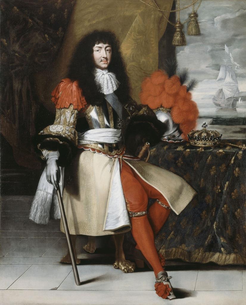 Claude Lefèvre. Retrato de Luis XIV. Hacia 1670. Palacio de Versalles.