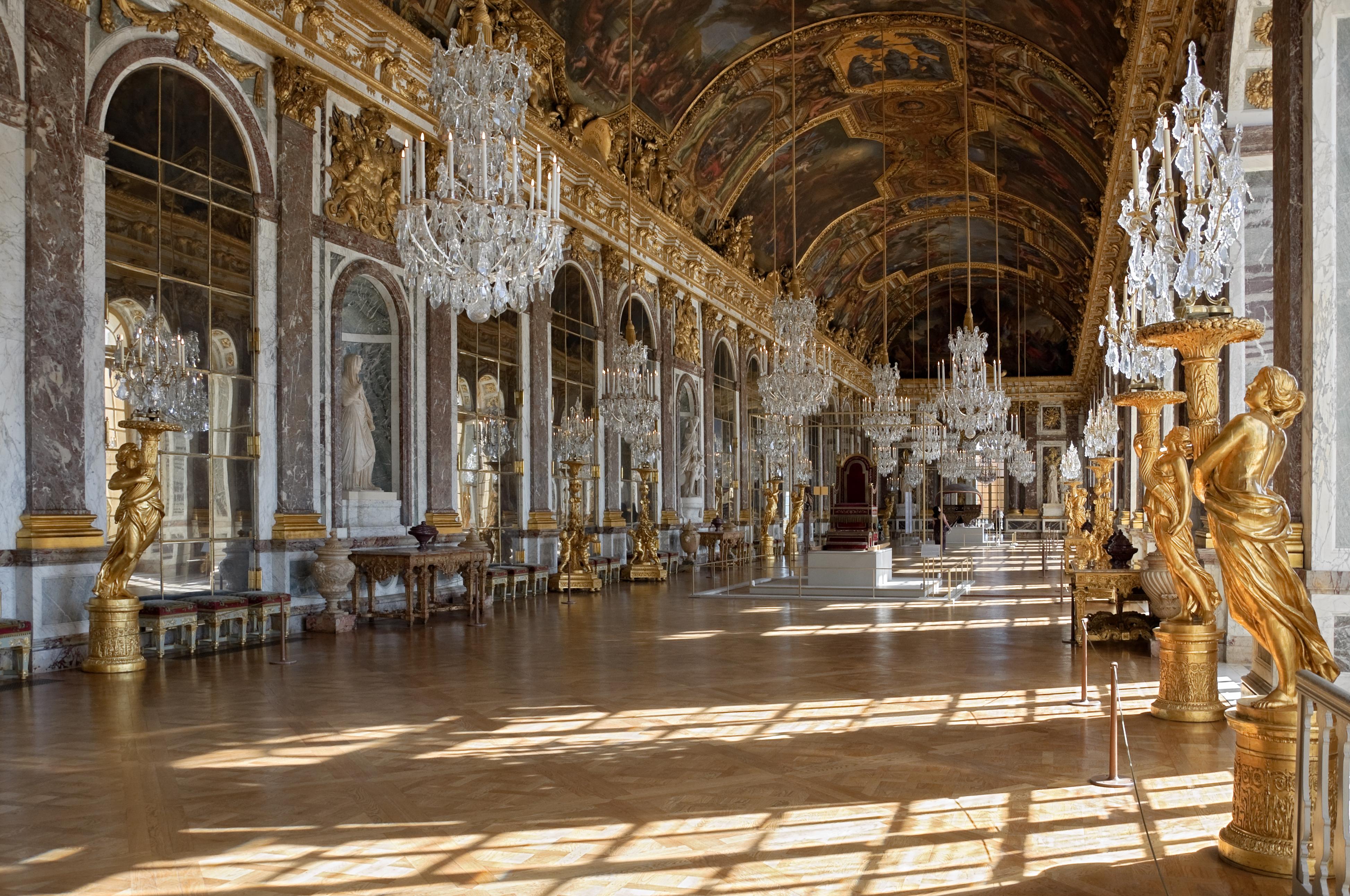 Galería de los espejos. Palacio de Versalles. Versalles..
