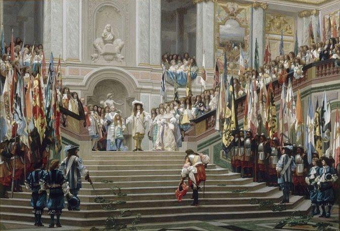 Jean-Léon Gérôme. Réception du Grand Condé par Louis XIV (Versailles, 1674) . 1878. Musée d´Orsay. Paris,
