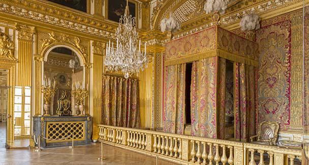 Palacio de Versalles. Cámara del rey Luis XIV.