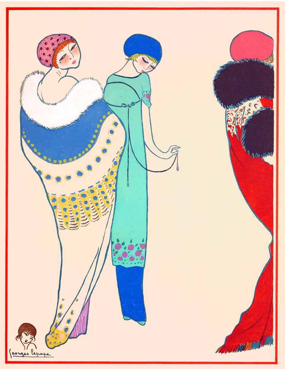 Diseño de Paul Poiret. Dibujo de Georges Lepape. 1911.